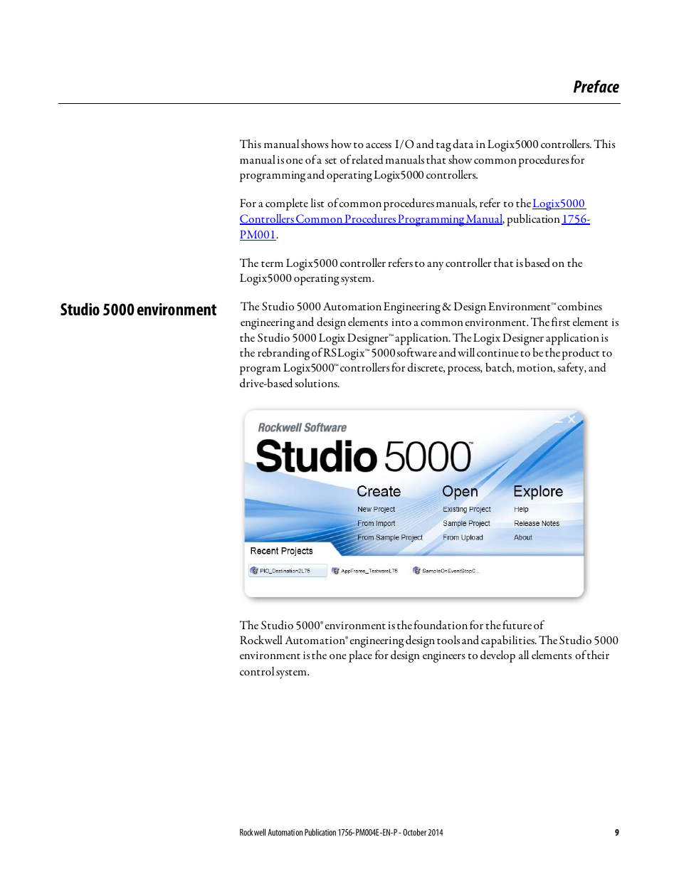 Preface, Studio 5000 environment   Rockwell Automation Logix5000  Controllers I/O and Tag Data Programming Manual User Manual   Page 9 / 86