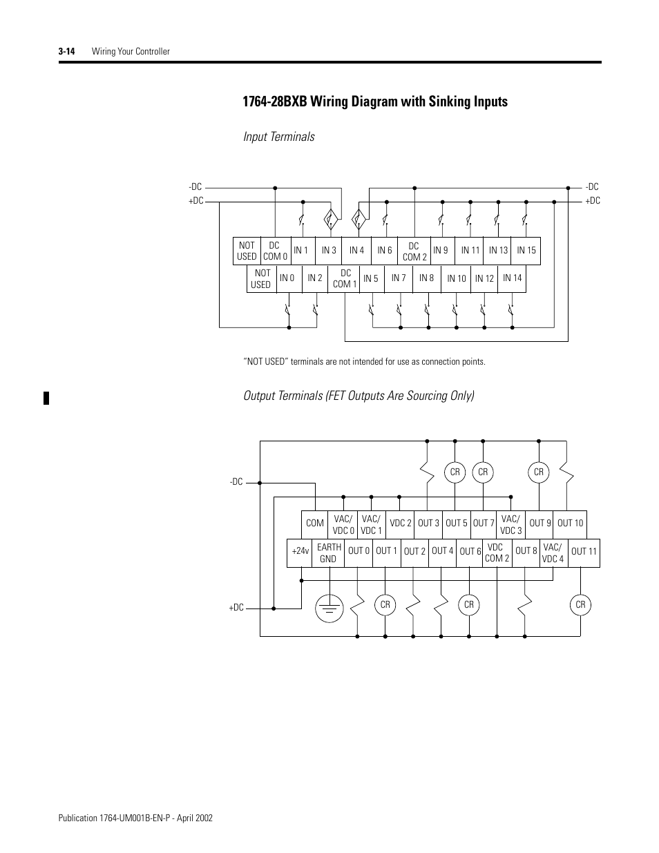 Micrologix 1500 Wiring Diagram Posts 1100 1764 28bxb With Sinking Inputs 14 Rockwell