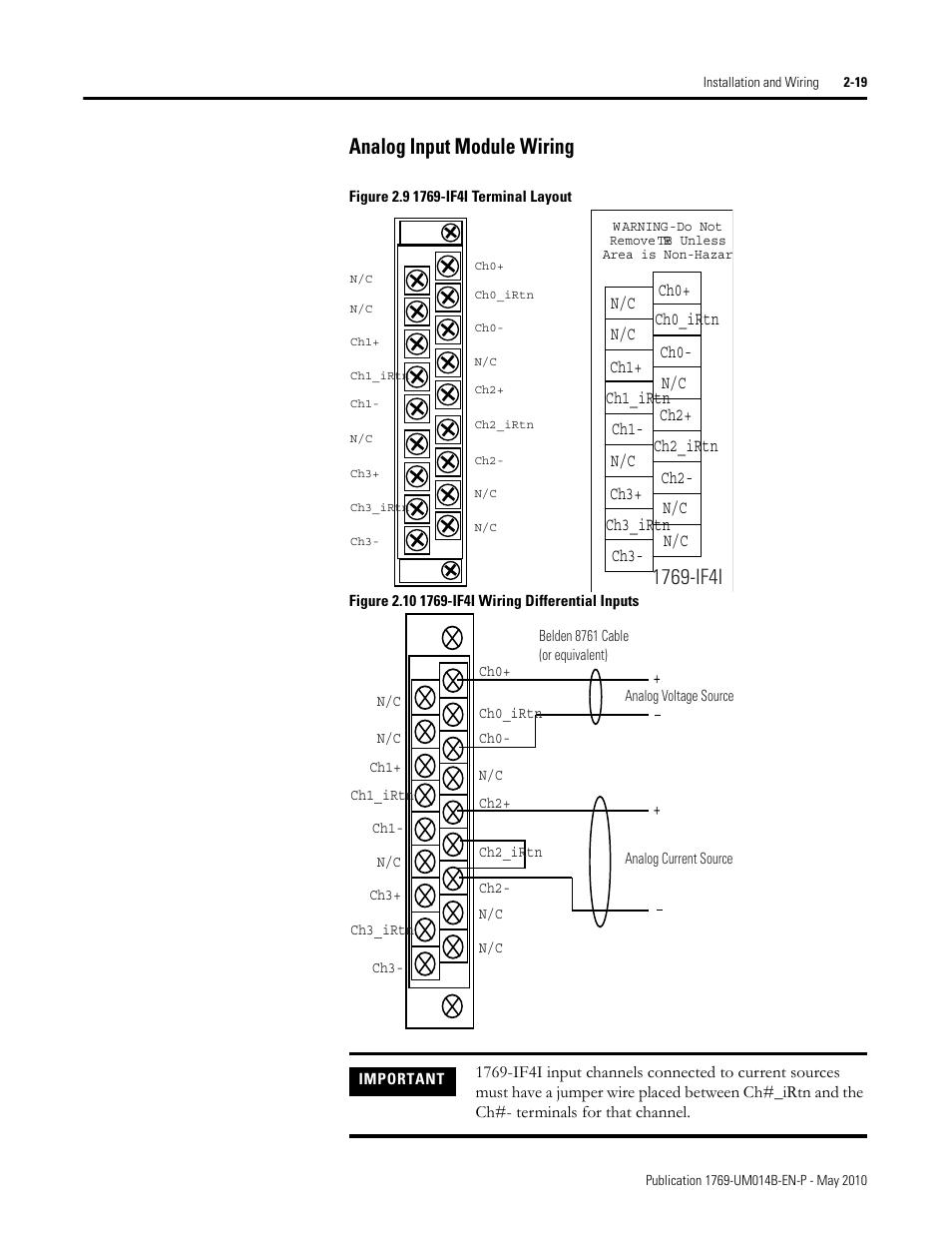 Analog Input Module Wiring  Analog Input Module Wiring
