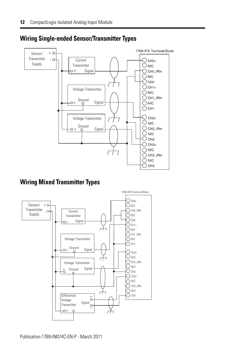 Wiring Single Transmitter Types  Wiring Mixed Transmitter Types