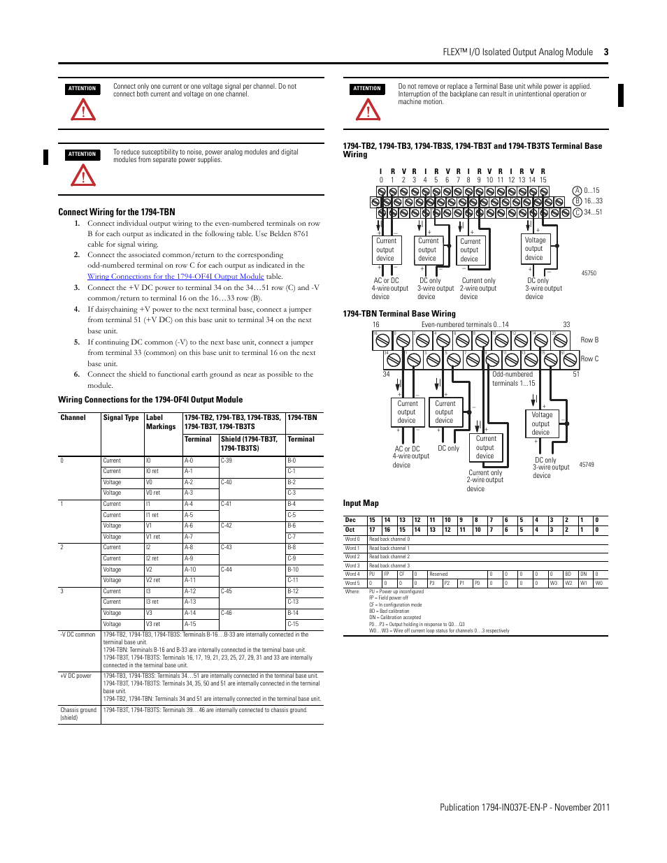 connect wiring for the 1794 tbn input map rockwell automation rh manualsdir com allen-bradley 1794-if4i user manual 1794-if4i user manual