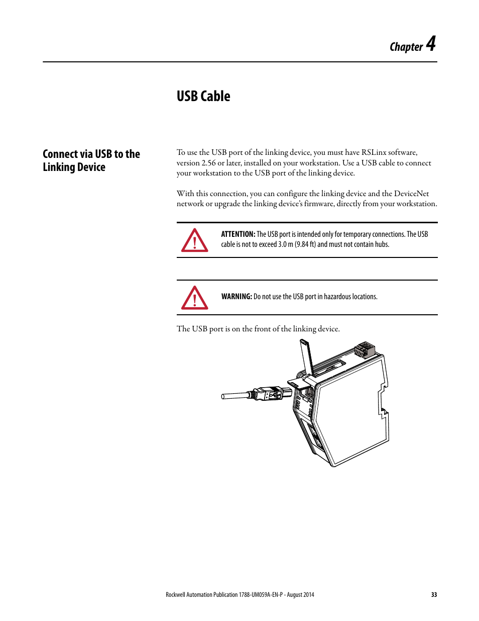 Devicenet Cat5 Cable Diagram Electrical Wiring Diagrams 4 Usb Connect Via To The Linking Device Chapter