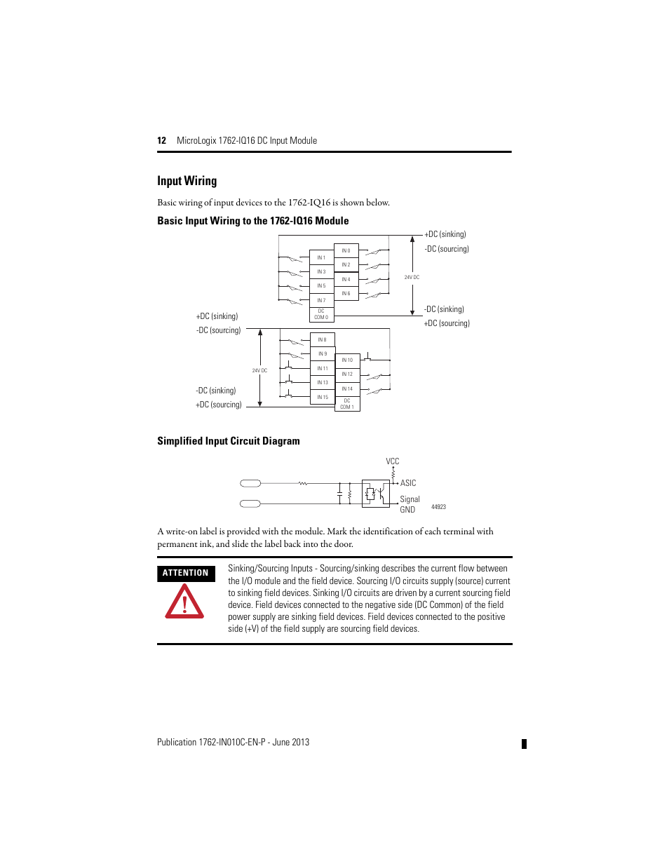 rockwell automation 1762 iq16 dc input module page12 1762 ia8 wiring diagram wiring color standards \u2022 wiring diagram 1762-ia8 wiring diagram at webbmarketing.co