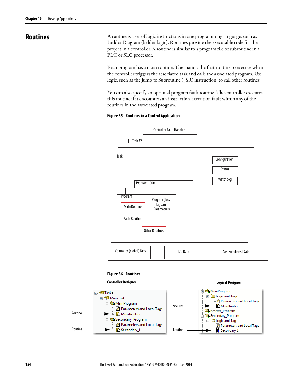 Routines Rockwell Automation 1756 L6x L7x Controllogix System User Logic Diagram Manual Page 154 212