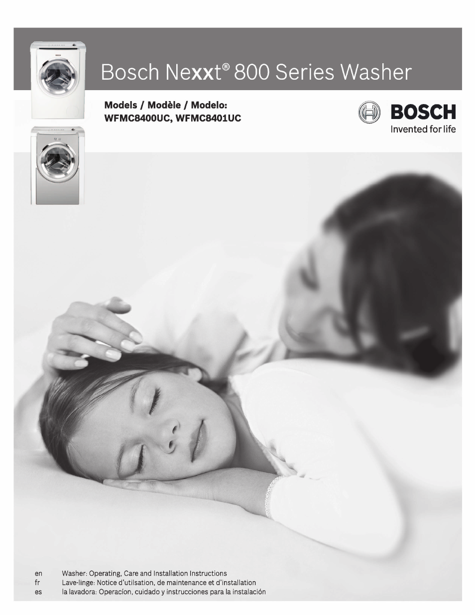 Bosch Nexxt 800 WFMC8401UC User Manual | 112 pages | Also for: Nexxt 800  WFMC8400UC, 800 WFMC8400UC