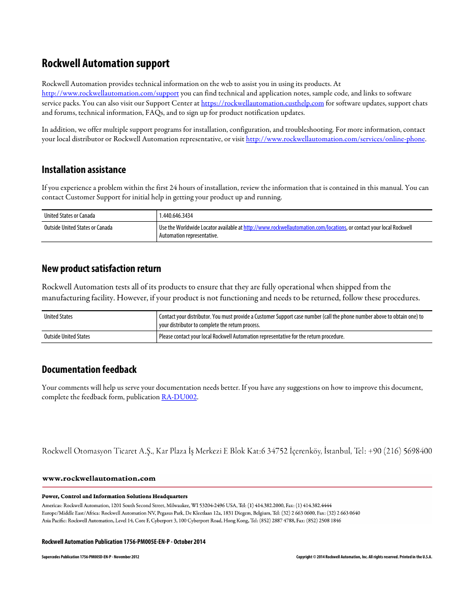 back cover rockwell automation support installation assistance rh manualsdir com Why Automate Processes Automated Application Process