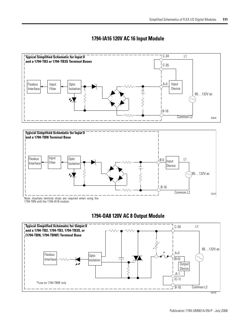 1794 ia16 120v ac 16 input module, 1794 oa8 120v ac 8 output module 1794 -OW8 Wiring 1794 ia16 120v ac 16 input module, 1794 oa8 120v ac 8 output module rockwell automation 1794 ob16d flex i o diagnostic modules user manual user manual