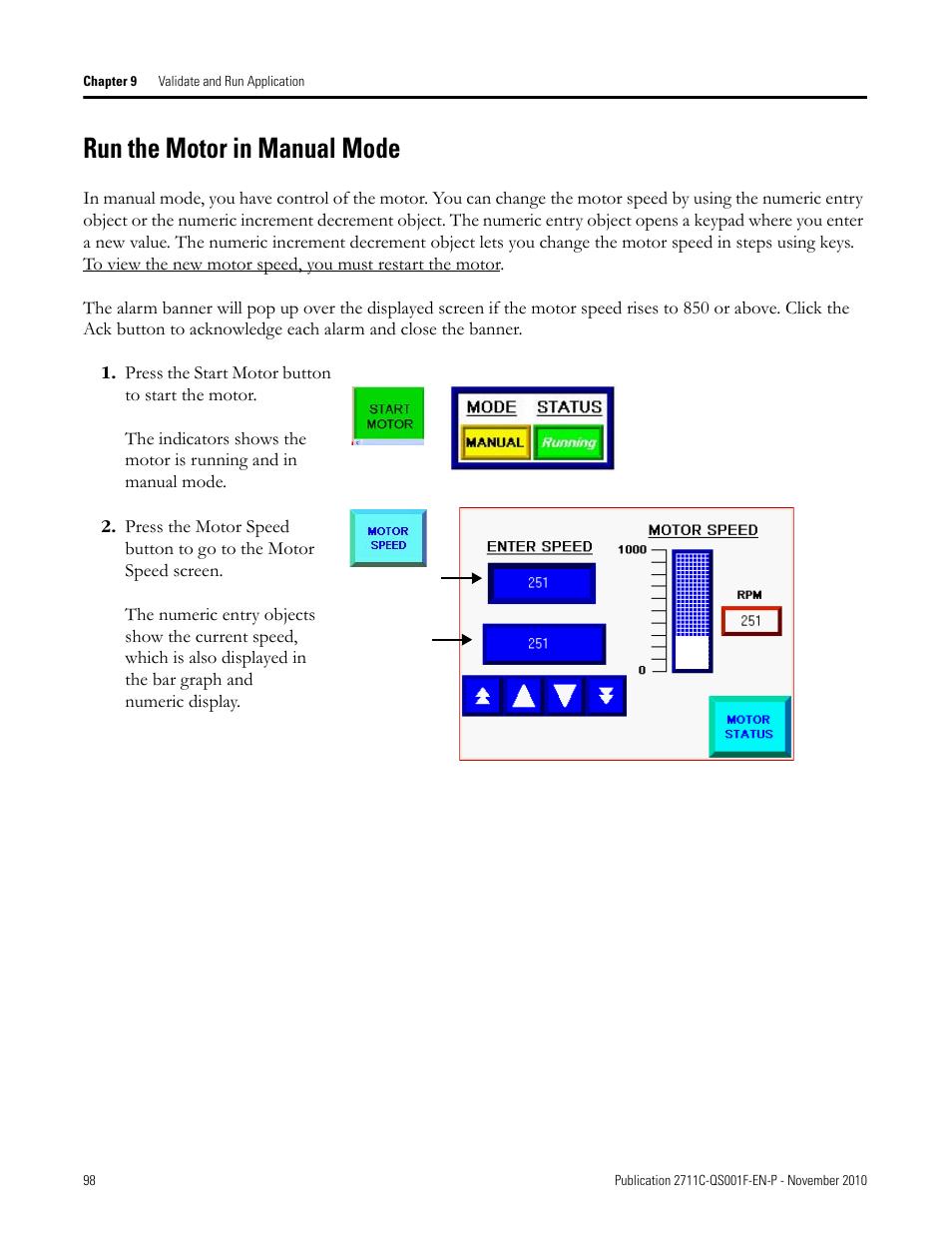 run the motor in manual mode run the motor in manual mode rh manualsdir com PanelView C300 Programming PanelView Component Design Station