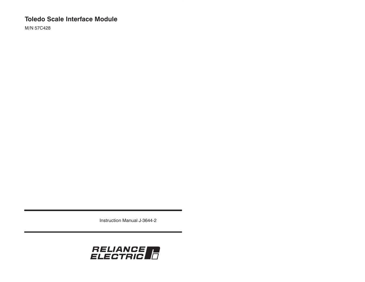 Rockwell Automation 57C428 Toledo Scale Interface Module User Manual