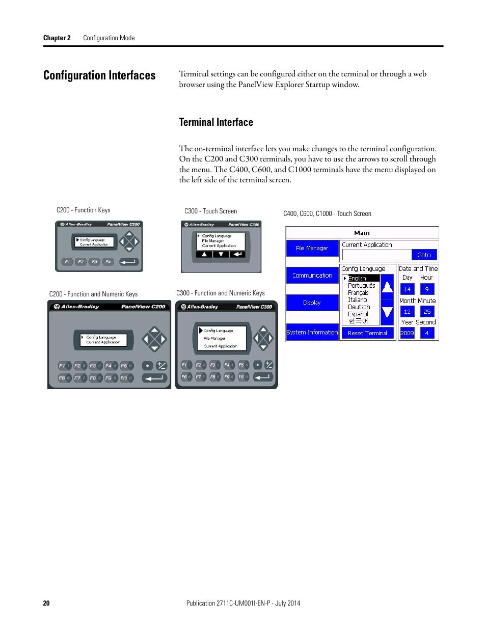 configuration interfaces terminal interface rockwell automation rh manualsdir com