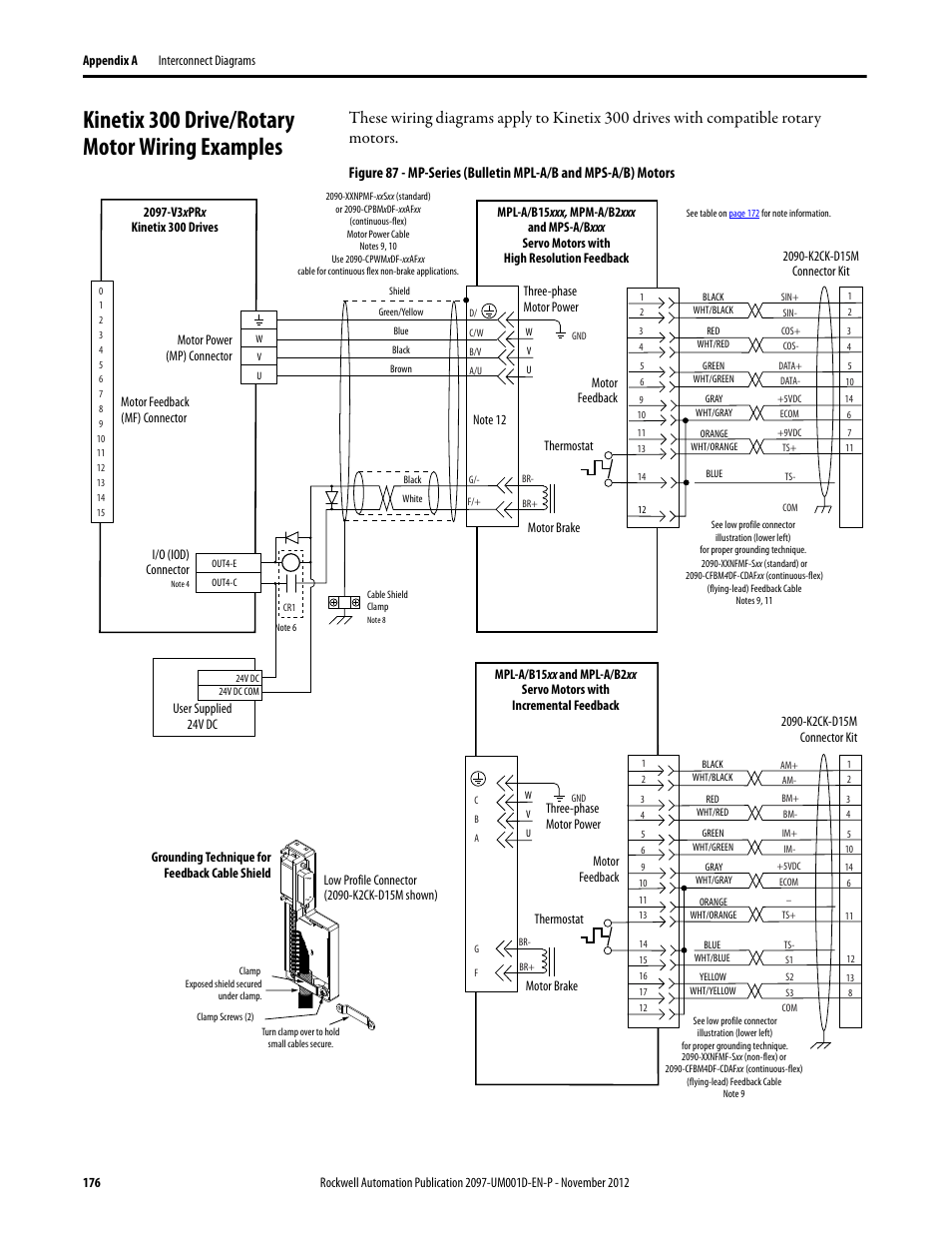 Kinetix 300 Drive  Rotary Motor Wiring Examples