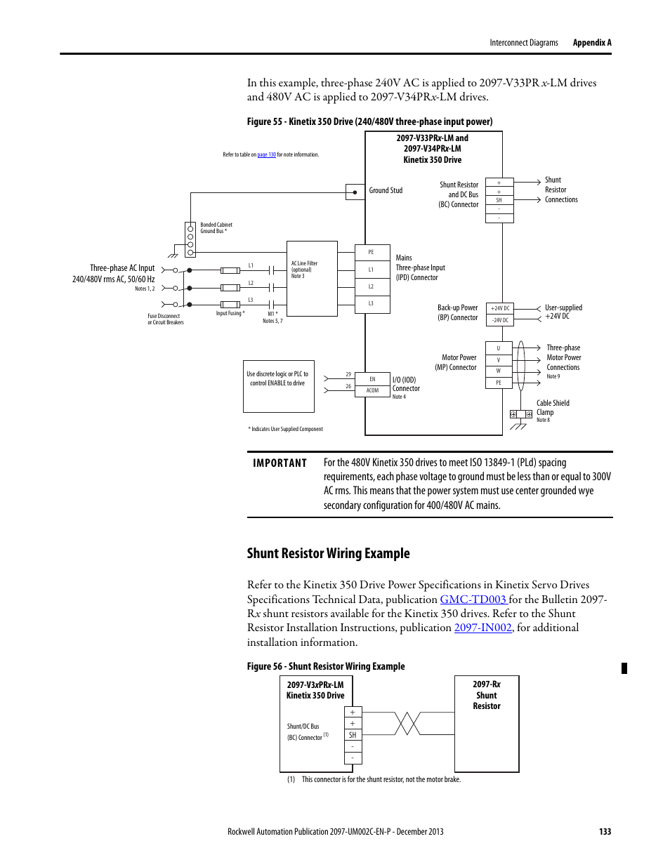 Shunt resistor wiring example | Rockwell Automation 2097-Vxxx ...