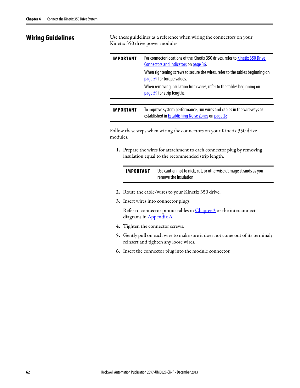 Wiring guidelines | Rockwell Automation 2097-Vxxx Kinetix 350 ...