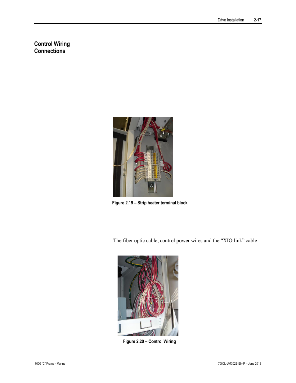 Control Wiring Connections Rockwell Automation 7000l Powerflex Fiber Optic Wire Diagram 7000 Medium Voltage Ac Drive C Frame Marine User Manual Page 47 350