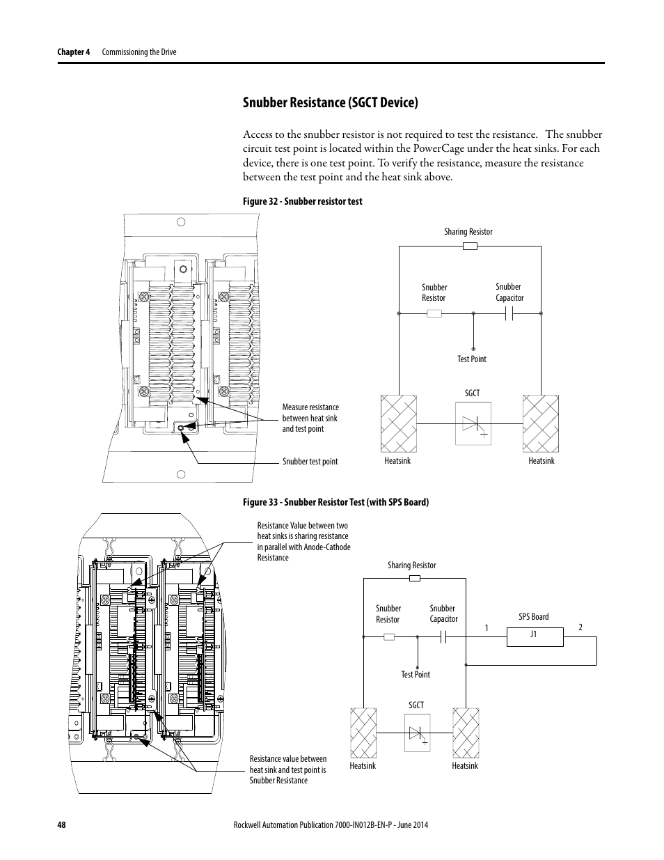 Snubber Resistance Sgct Device Rockwell Automation 7000 Measurement Circuit Diagram Powerflex Medium Voltage Ac Drive B Frame Commissioning Forge Control User Manual Page 48