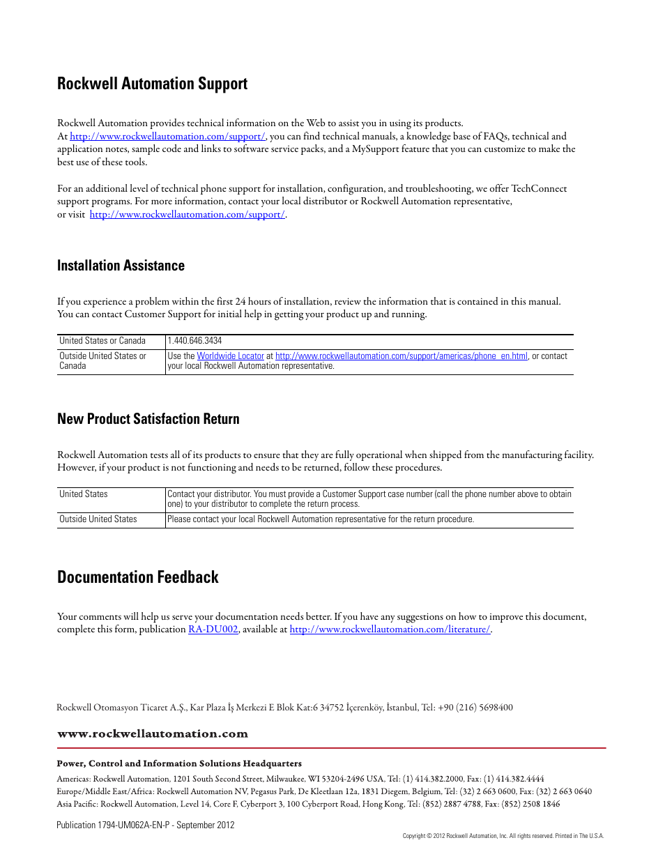 back cover rockwell automation support documentation feedback rh manualsdir com Why Automate Processes Why Automate Processes