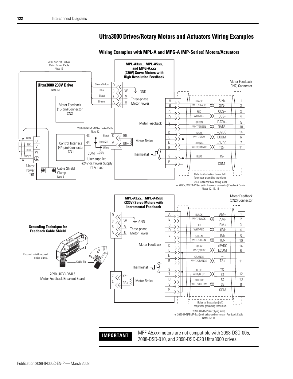 Servo Drive Wiring Electrical Diagrams Diagram Ultra3000 Drives Rotary Motors And Actuators Examples Omron