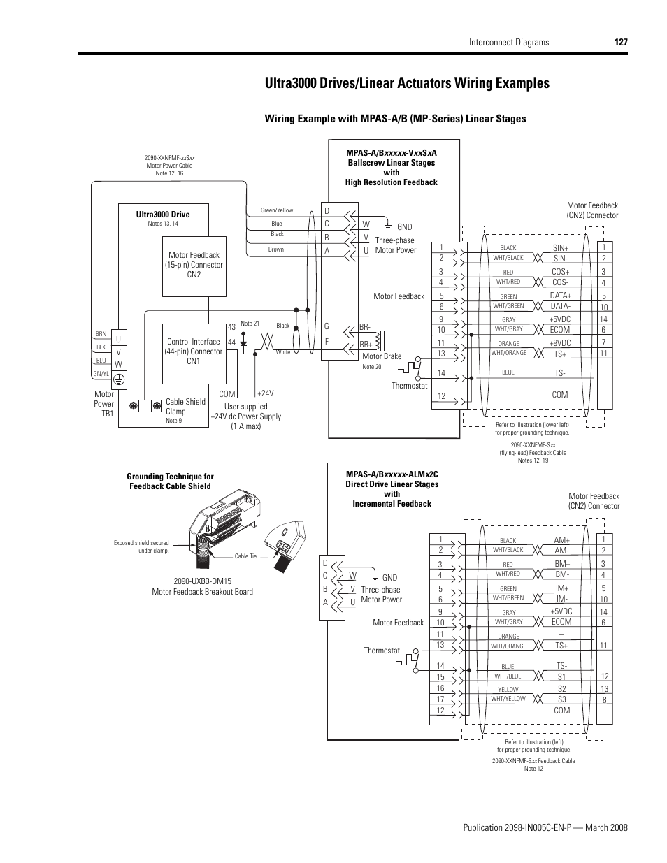 Ultra3000 Drives Linear Actuators Wiring Examples Rockwell Servo Drive Diagram Automation 2090 Integration Manual