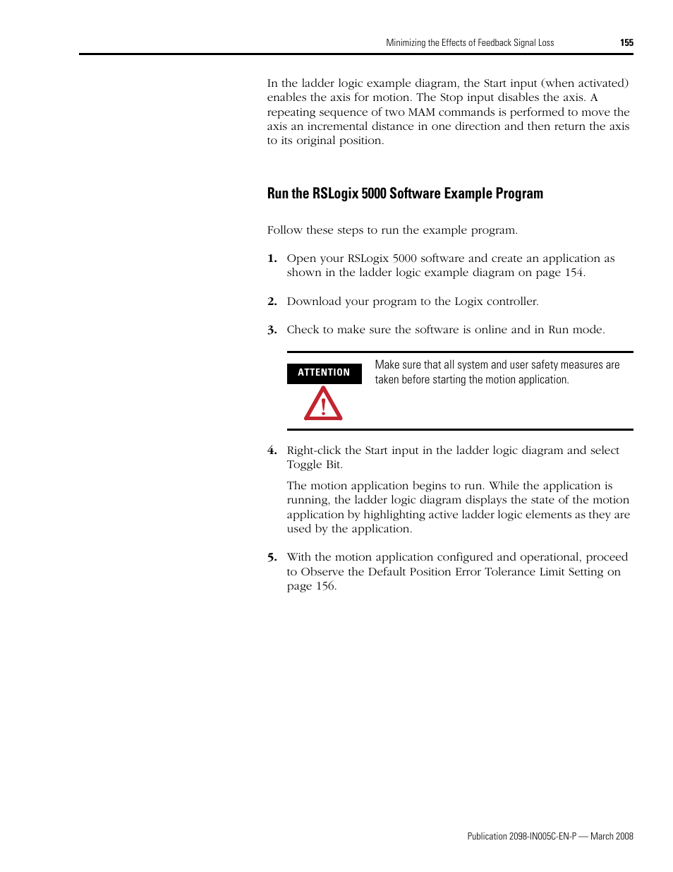 Run The Rslogix 5000 Software Example Program Rockwell Automation Logic Diagram Application 2090 Ultra3000 Servo Drives Integration Manual User Page 155 180