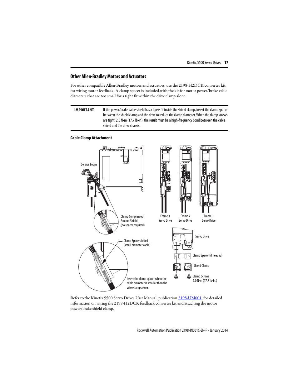 Other Allen Bradley Motors And Actuators Rockwell Automation 2198 Servo Drive Motor Wiring Diagram Hxxx Kinetix 5500 Drives Installation Instructions User Manual Page 17 20