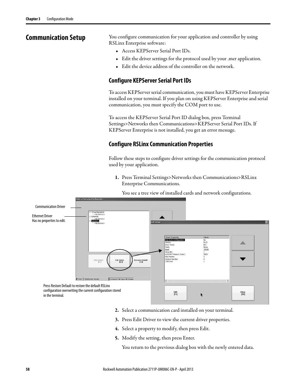 communication setup configure kepserver serial port ids configure rh manualsdir com RSLogix 5000 RSLinx Windows 7