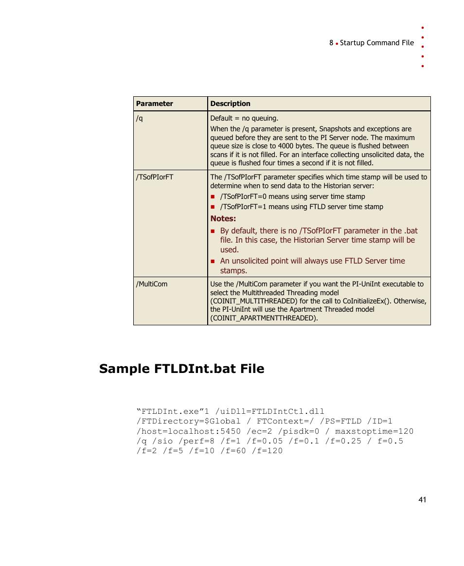 Sample ftldint bat file | Rockwell Automation FactoryTalk Historian