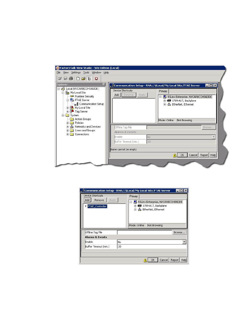 rockwell automation factorytalk alarms and events quick start user rh manualsdir com RSLinx Classic Open RSLinx Program
