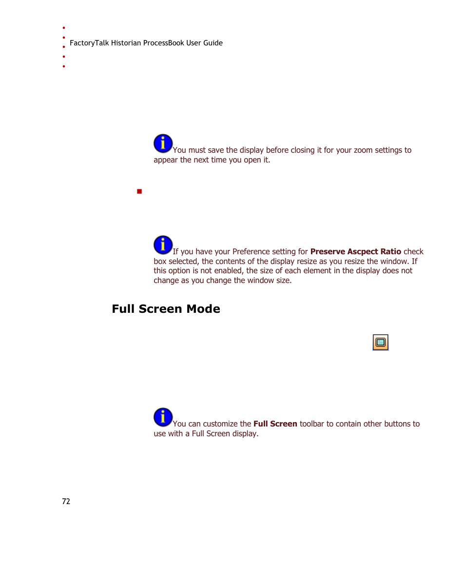 full screen mode rockwell automation factorytalk historian se rh manualsdir com Pcoket Guide Paperwork Guide