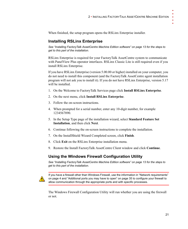 installing rslinx enterprise using the windows firewall rh manualsdir com Open RSLinx Program RSLogix 5000