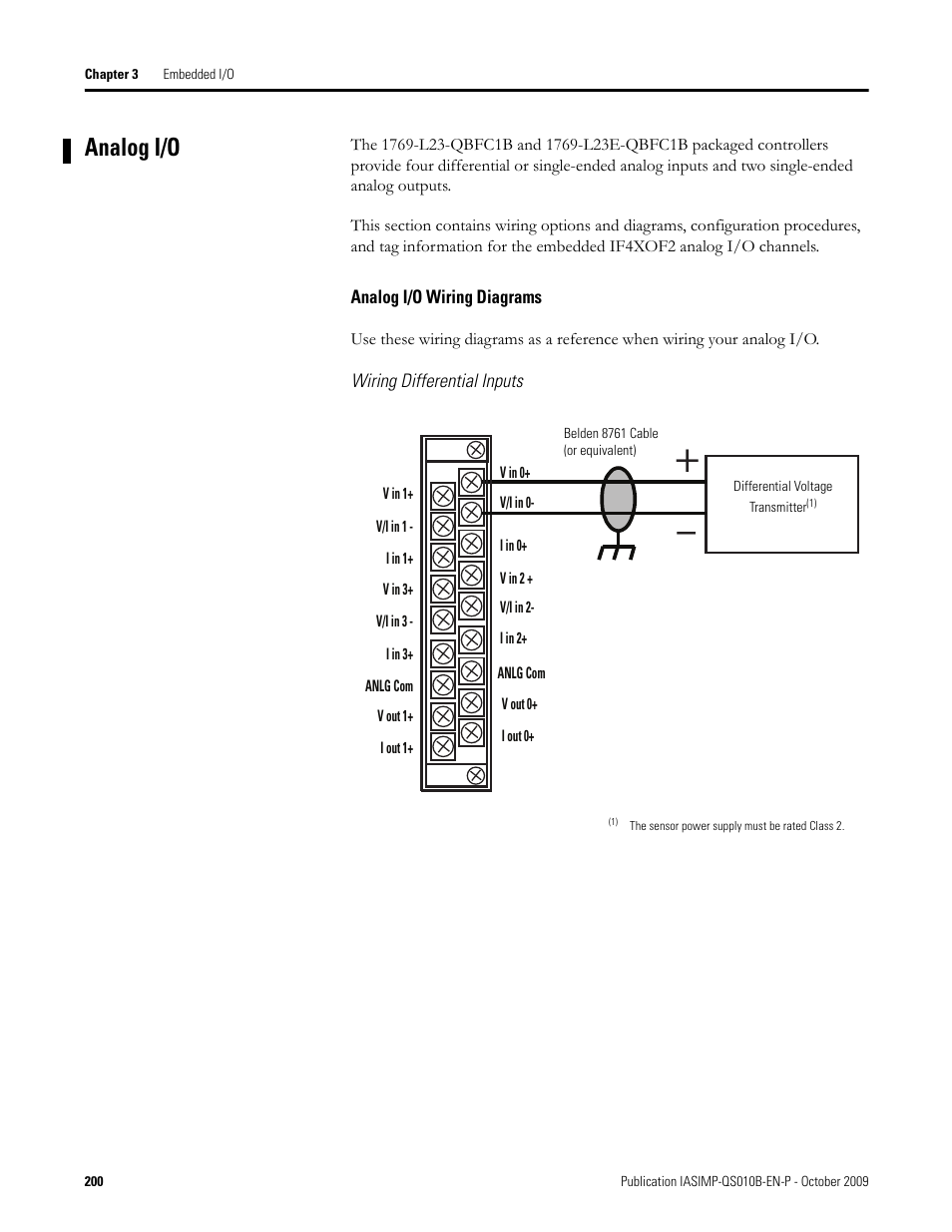 rockwell automation 1769 l23e qb1b_l23e qbfc1b_l23 qbfc1b compactlogix packaged controllers quick start and user manual page200 analog i o, analog i o wiring diagrams rockwell automation 1769  at aneh.co