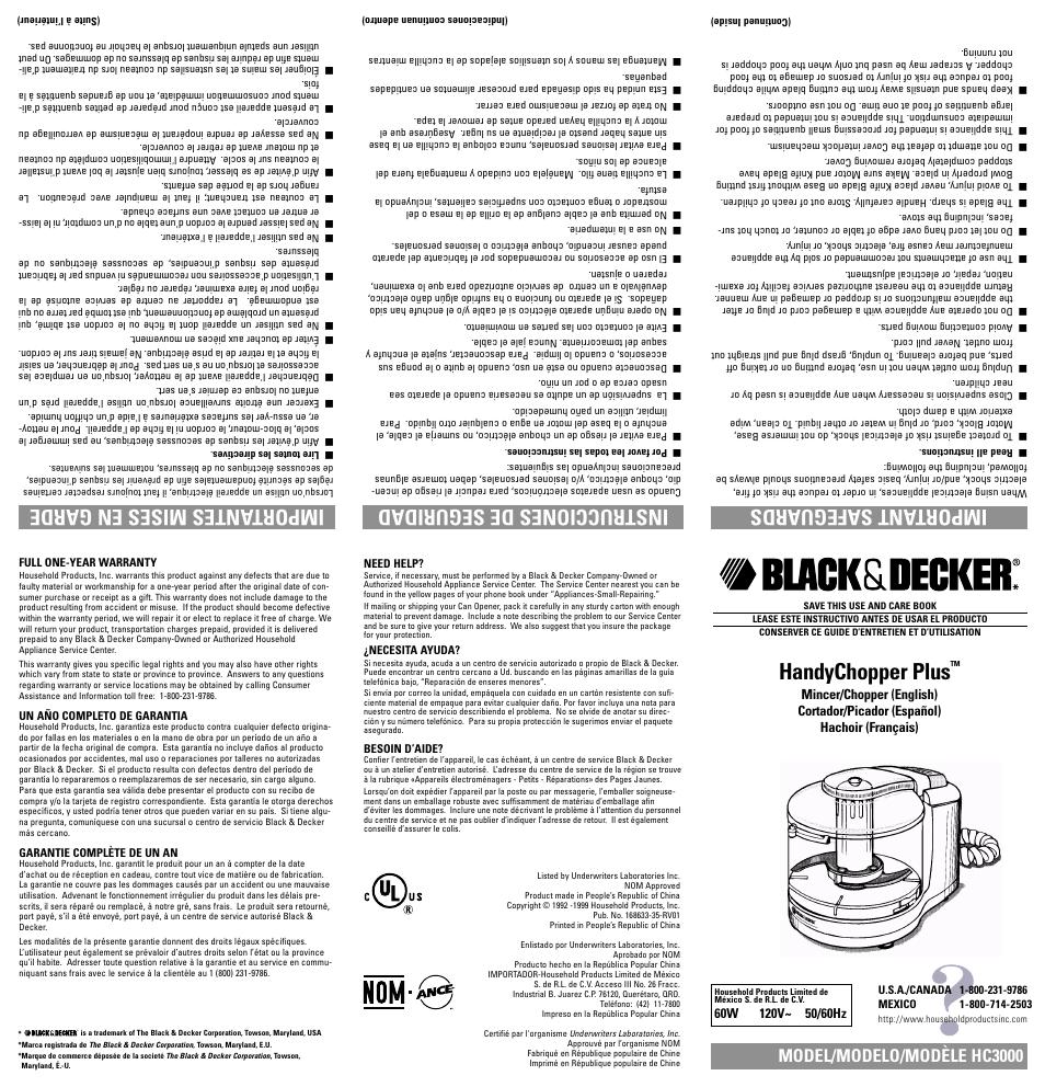 black and decker user manuals