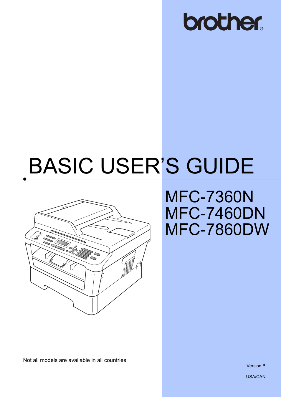 brother mfc 7860dw user manual 162 pages also for mfc 7360n rh manualsdir com Brother 7860DW Driver Windows 8 Brother Printer MFC-7860DW Driver
