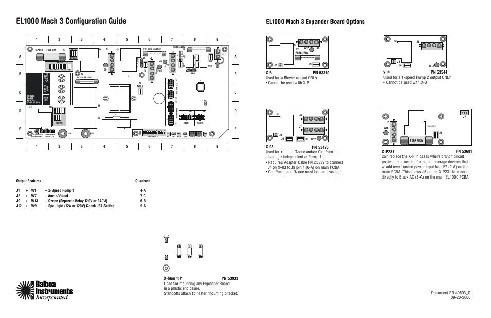 Balboa Water Group El1000 Configuration Guide User Manual