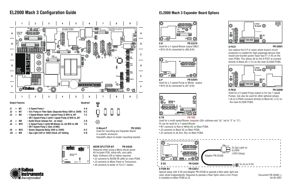 Balboa Water Group El2000 Configuration Guide User Manual