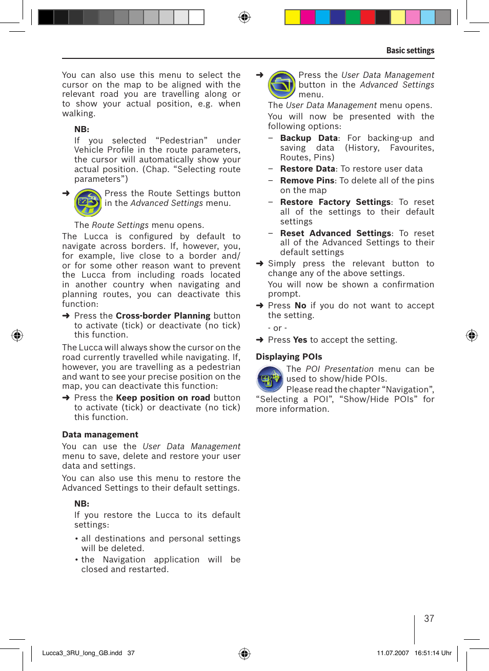 Blaupunkt TRAVELPILOT LUCCA 3 3 EE User Manual | Page 37 / 46