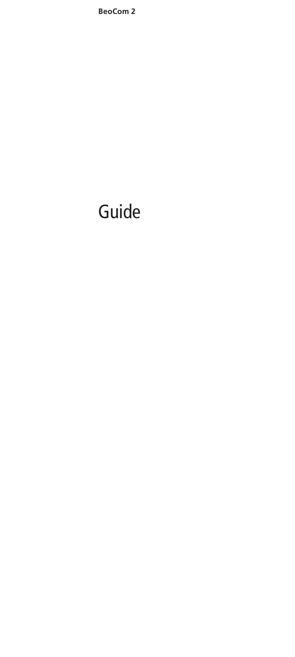 bang olufsen beocom 2 user guide user manual 40 pages rh manualsdir com Bang & Olufsen BeoLab 4000 Bang Olufsen H6