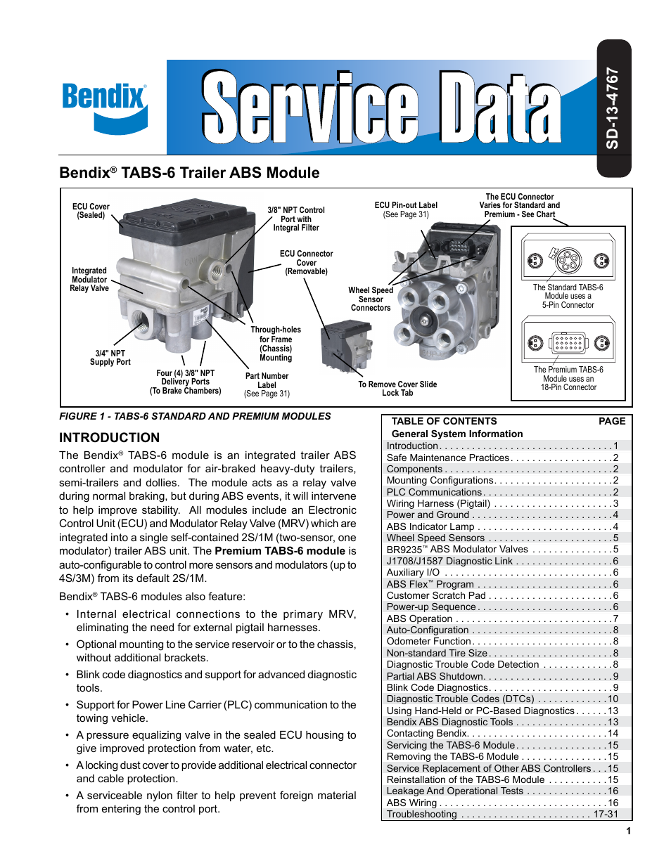 bendix commercial vehicle systems tabs 6 trailer abs module page1 bendix commercial vehicle systems tabs 6 trailer abs module user