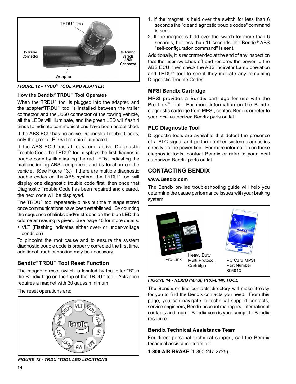 Contacting bendix | Bendix Commercial Vehicle Systems TABS-6
