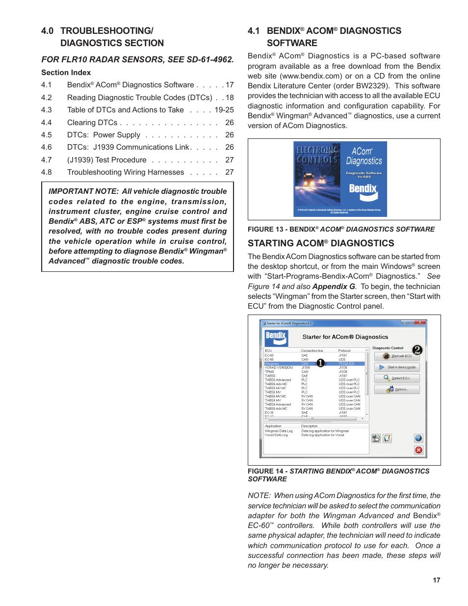 1 Bendix Acom Diagnostics Software Commercial Vehicle Wiring Harness Freeware Systems Wingman Advanced Flr20 Sensor User Manual Page 17 64