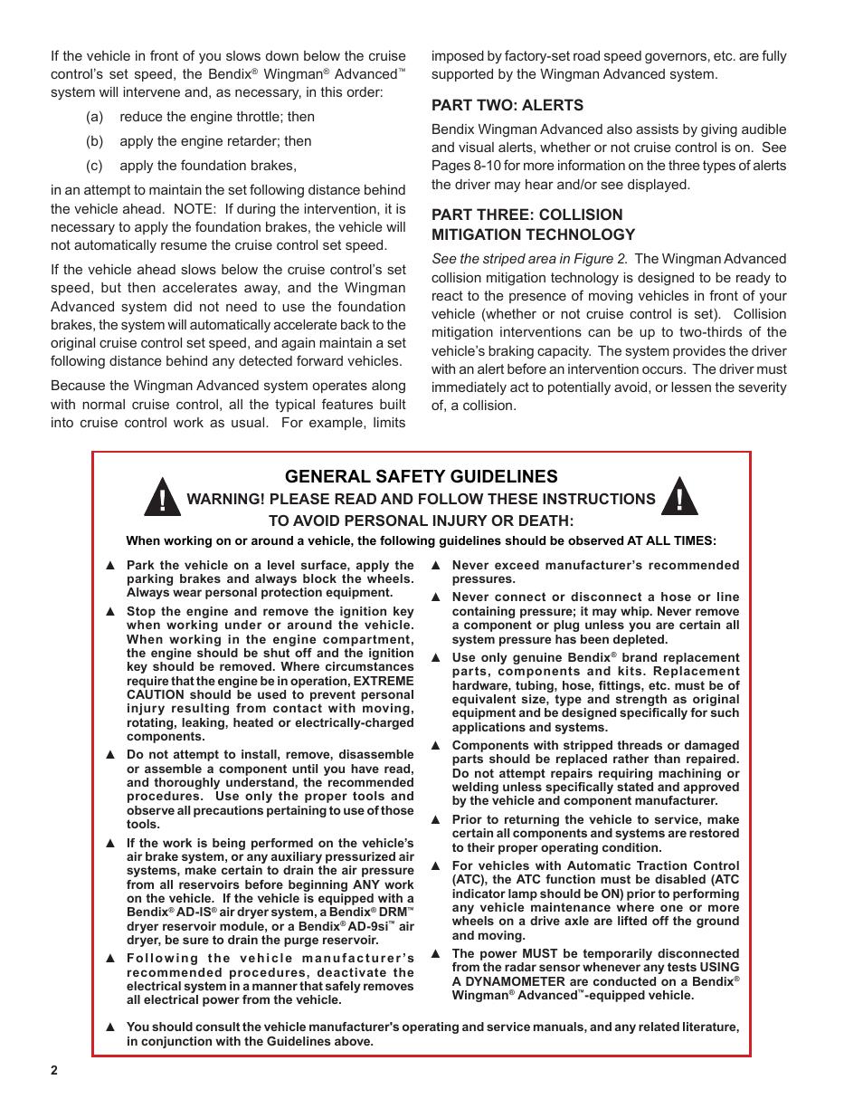 Bendix wingman service manual