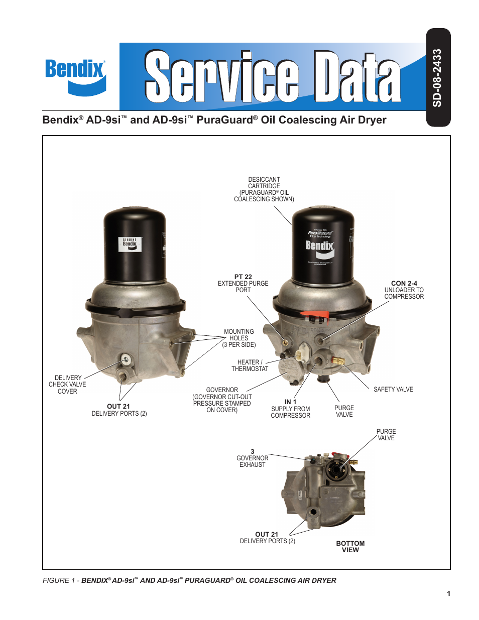 Bendix Commercial Vehicle Systems Ad 9si Oil Coalescing