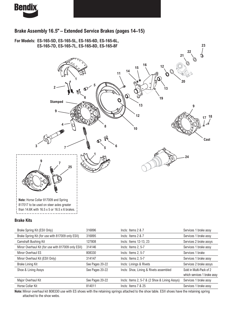 bendix commercial vehicle systems illustrated parts list