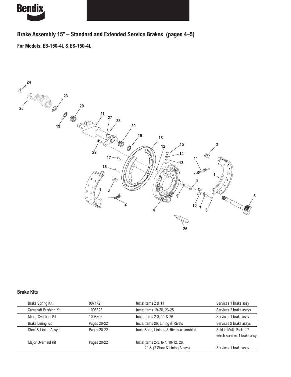 Bendix Commercial Vehicle Systems Illustrated Parts List Brakes User