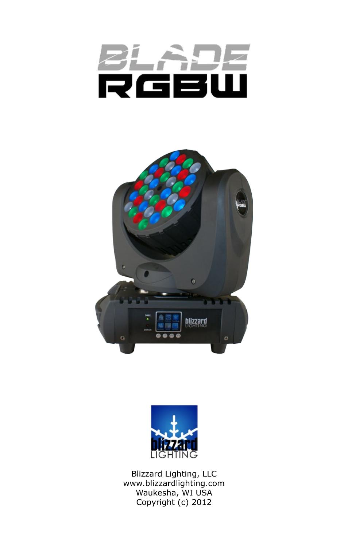 sc 1 st  manualsdir.com & Blizzard Lighting Blade RGBW (Rev A) User Manual | 24 pages