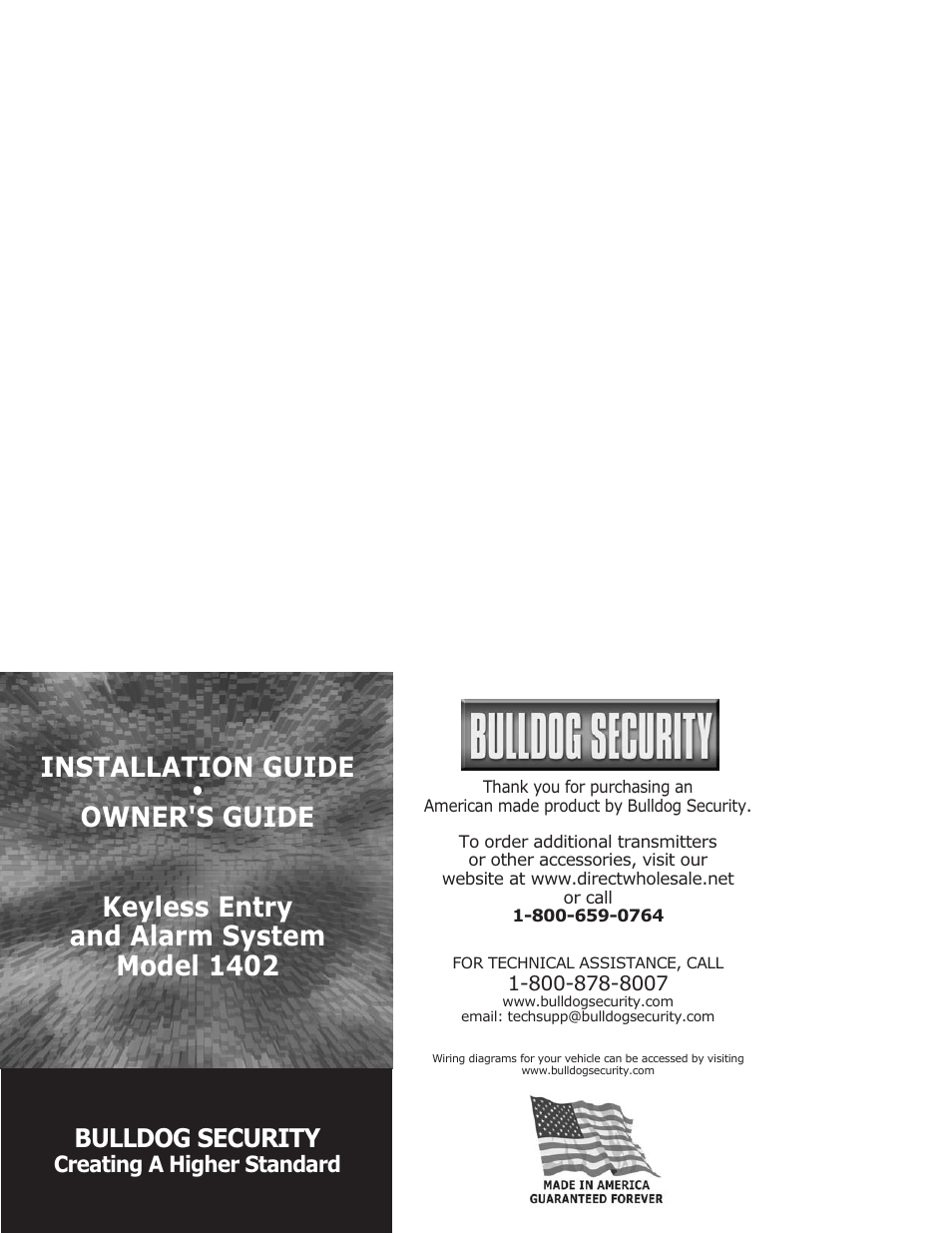 Bulldog Security 1402 User Manual 14 Pages Vehicle Wiring Diagrams