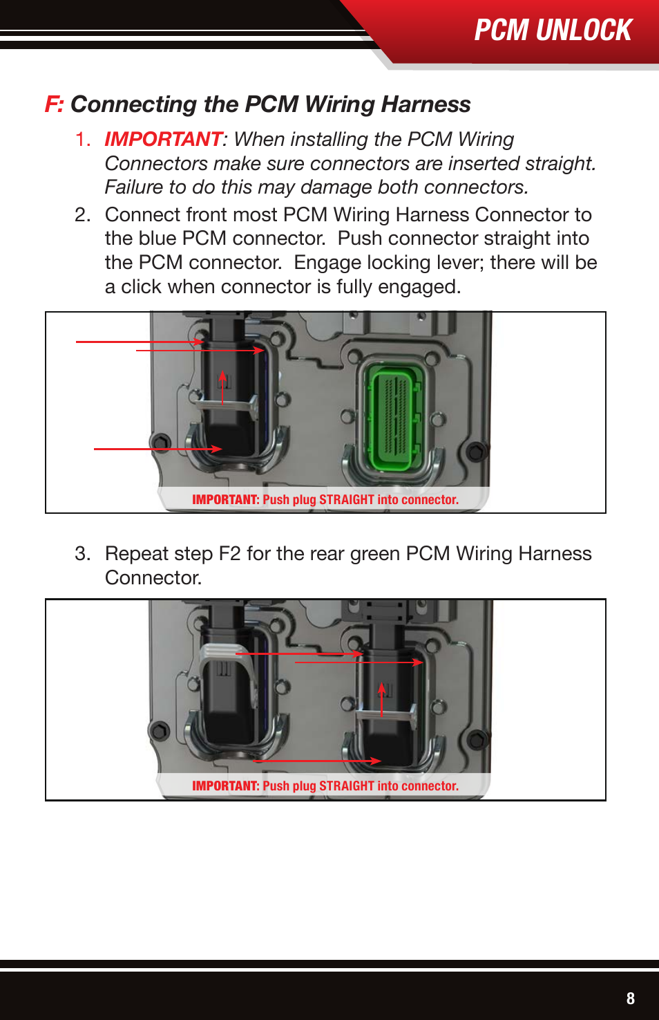 pcm unlock, f connecting the pcm wiring harness bully dog 42213 Pitbull Harness and Collars