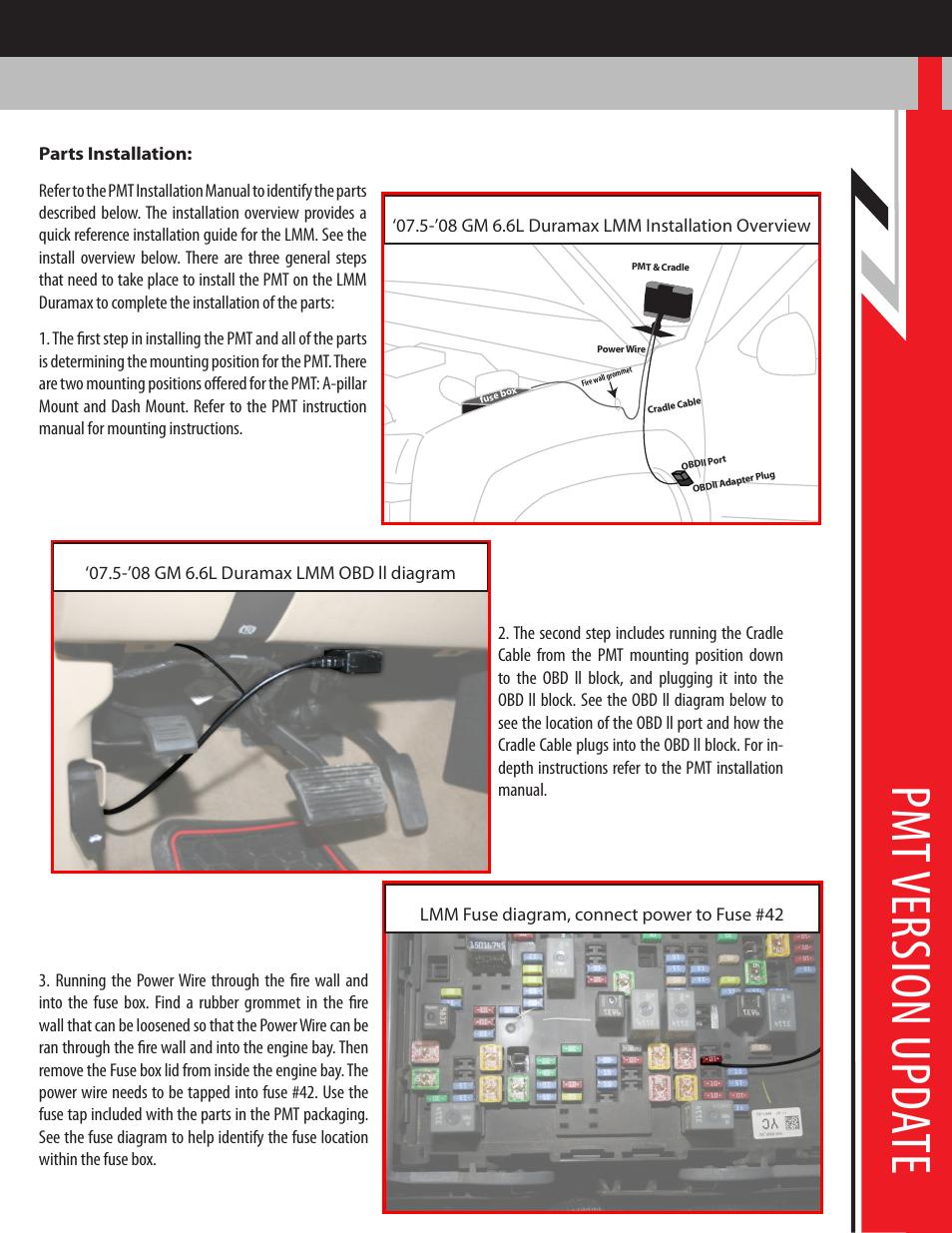 Pm t v er sio n u pda te | Bully Dog PMT 07.5-08 GM 6.6L Duramax LMM  Version 1.0.1.1 User Manual | Page 2 / 8