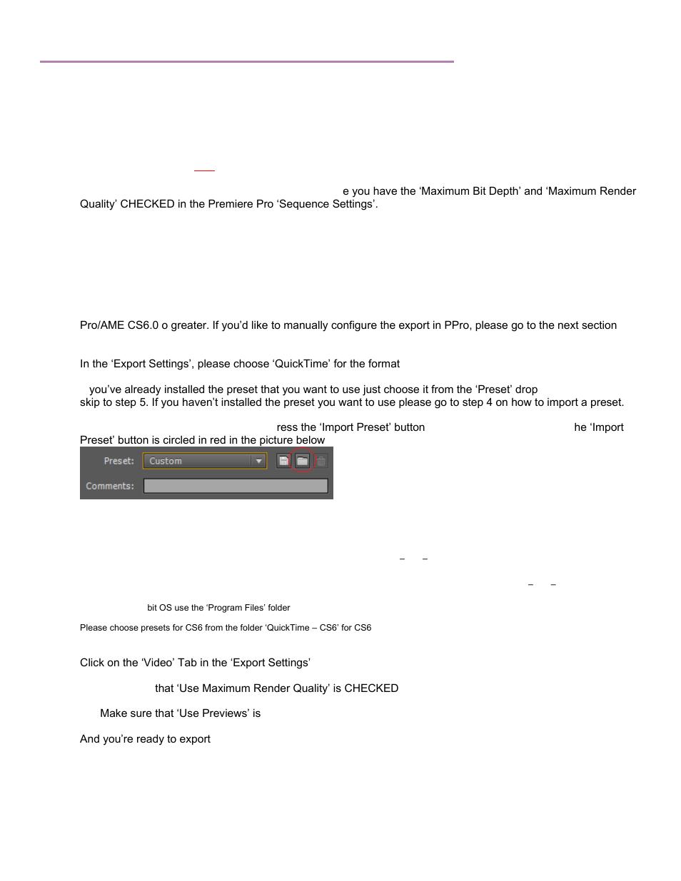 Adobe premiere pro cs6/cc/cc2014 - mov, Getting started   Calibrated