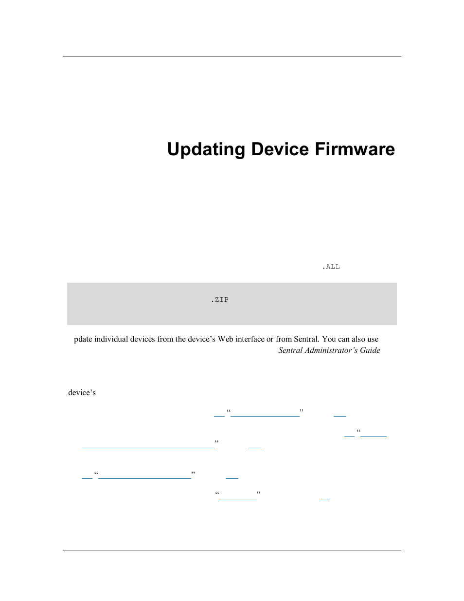 Chapter 9  updating device firmware, Chapter 9, Updating