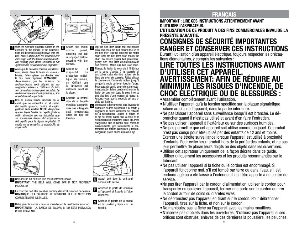 fran ais dirt devil sd12000 user manual page 5 12 original mode rh manualsdir com Dirt Devil Cyclonic Vacuum dirt devil user manual m086710
